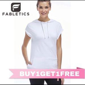 SOLD Fabletics Oceanside White Hoodie Sweatshirt